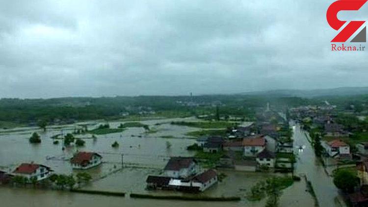 باران شدید موجب جاری شدن سیل در بوسنی و کرواسی شد