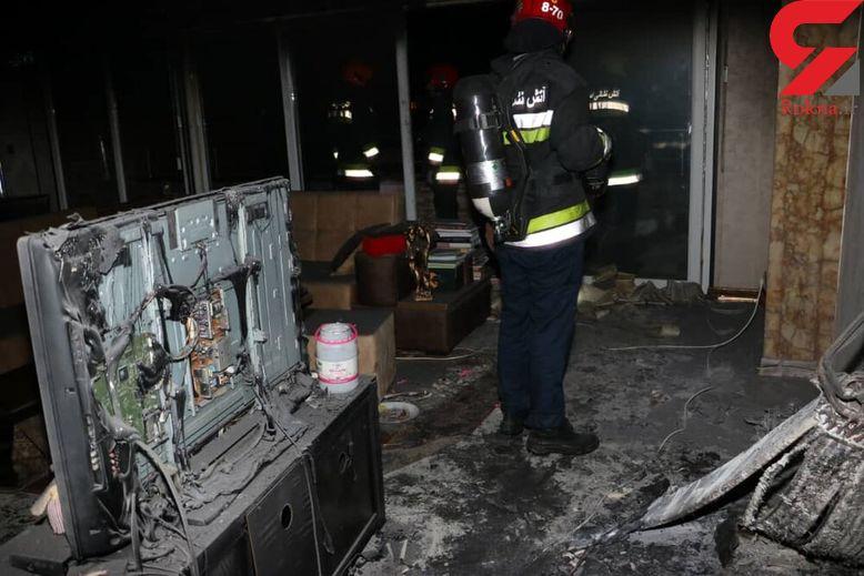 انفجار صبحگاهی در ساختمان 16 طبقه 20 اصفهانی را در معرض خفگی قرار داد + تصاویر