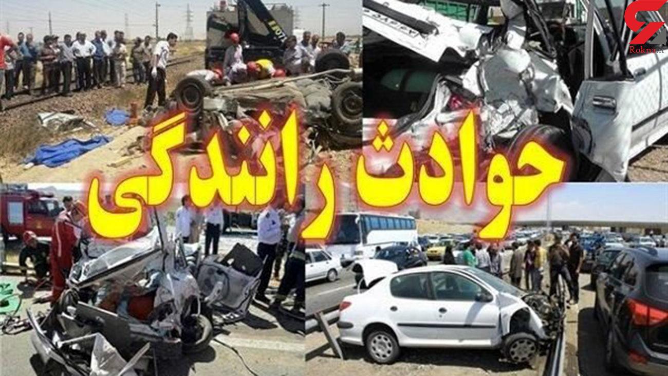 یک کشته در تصادف اتوبان زنجان - تبریز