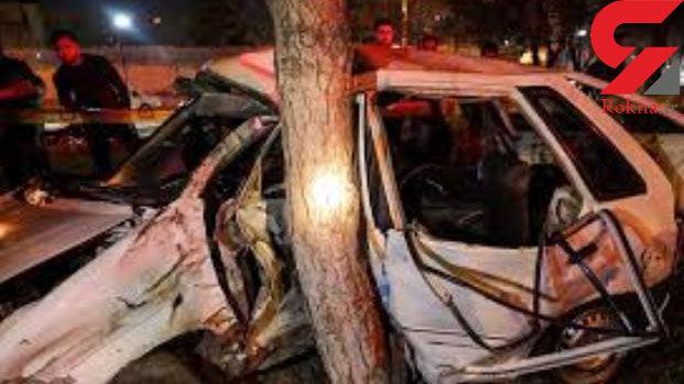 """یک کشته در برخورد خودرو با درخت در""""شیراز"""""""