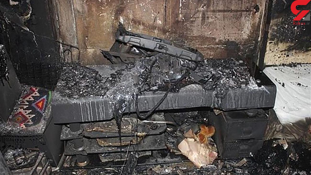 عکس / انفجار و آتشسوزی هولناک در خیابان قزوین تهران