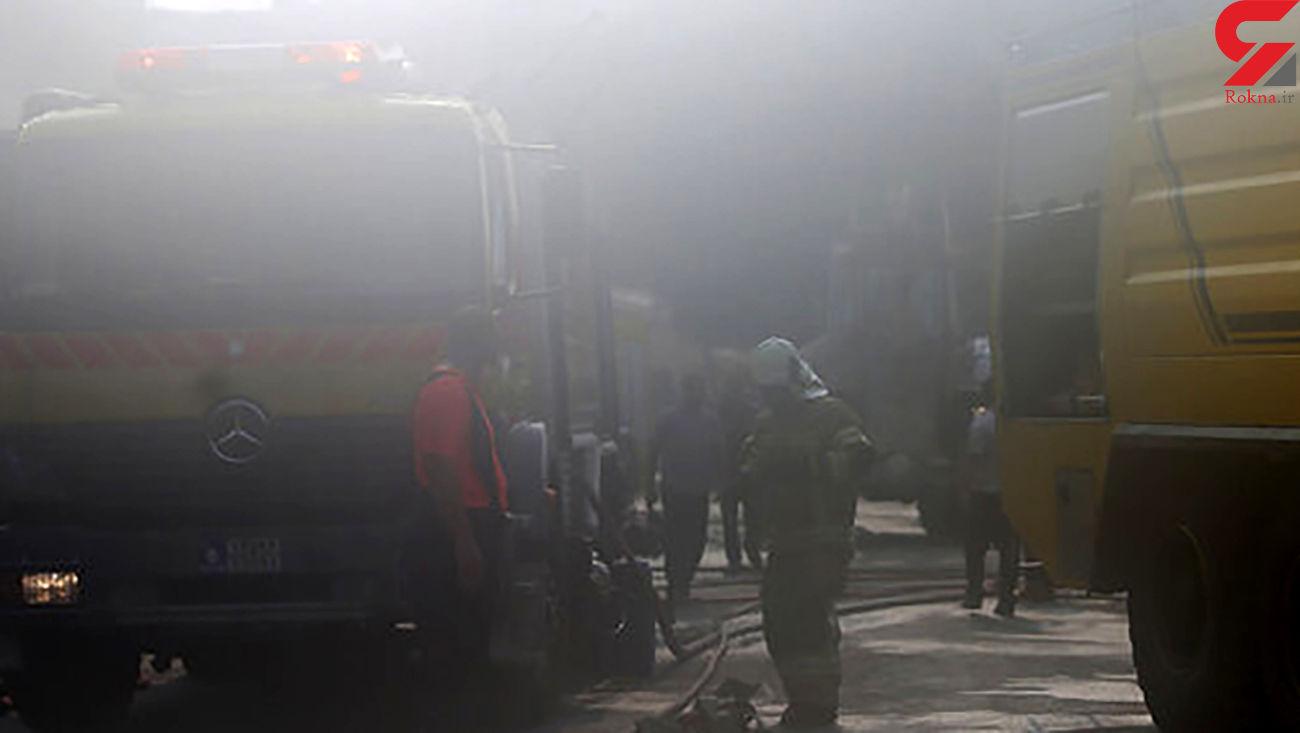 آتش سوزی پاساژ سرشناس در شهرری / صبح امروز رخ داد