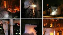 عکس های تکان دهنده /  خانه قاجاری در بابل در آتش