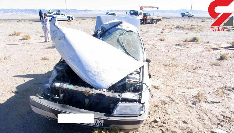 واژگونی مرگبار پژو در قصرقند + عکس
