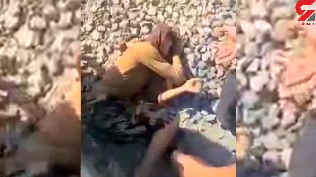 فیلم له شدن پسر 16 ساله تهرانی زیر چرخ های قطار / مسئولان کجایند؟