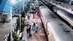 فیلم اقدام خطرناک مسافر در ایستگاه قطار+ جزییات