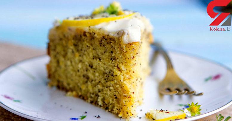 کیک لایهای مغز لیمویی یک دسر خانگی خوشمزه+دستور تهیه