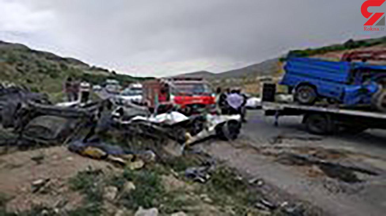 دو کشته در تصادف شاخ به شاخ نیسان و پژو در محور بروجن _ خوزستان