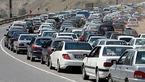 ترافیک در آزاد راه کرج- قزوین و کرج-تهران نیمه سنگین است