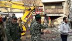 لودرهای نیروی زمینی ارتش در راه پلاسکو/ امدادرسانی نفرات نیروی زمینی در محل حادثه +تصاویر