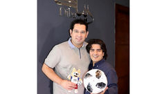 «سامان احتشامی» در کنار گزارشگر محبوب فوتبال