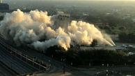 فیلم لحظه تخریب برج 11 طبقه در دالاس