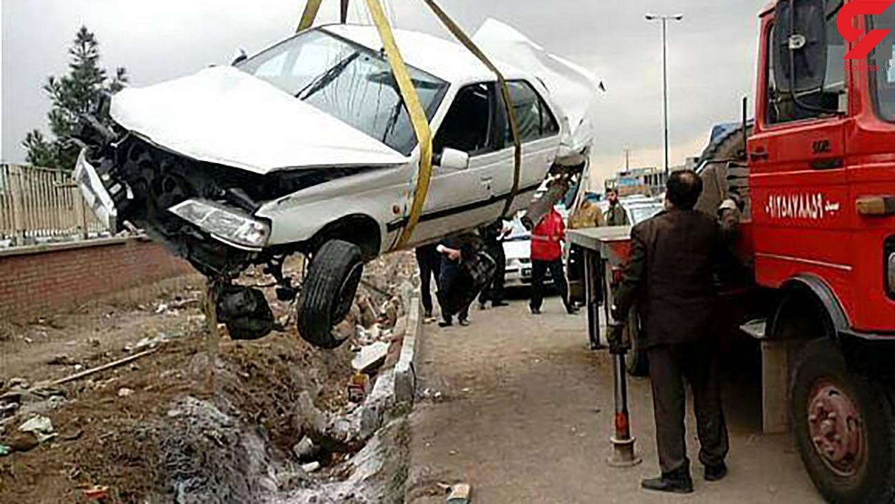 تصادف خونین در جاده قزوین با 2 زخمی