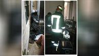 نشت و انفجار گاز شهری در خیابان انقلاب تبریز/یک نفر مصدوم شد + عکس