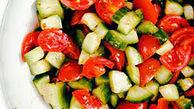 گوجه و خیار را با هم نخورید!