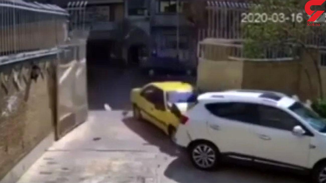 عجیب ترین تصادف در پارکینگ خانه ویلایی+ فیلم