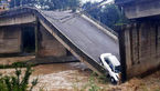 عکسی تلخ از پراید له شده در پل شکسته املش !