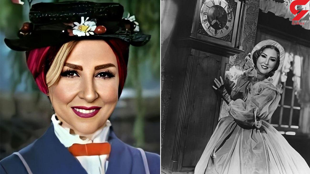 خانم چادری سریال ها با آرایشی غلیظ / عجیب ترین عکس ها از مرجانه گلچین