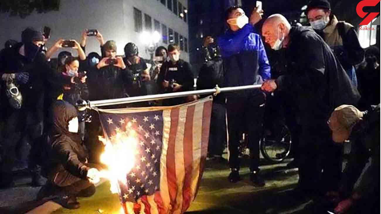 درگیری ها در پی انتخابات 2020 آمریکا آغاز شد