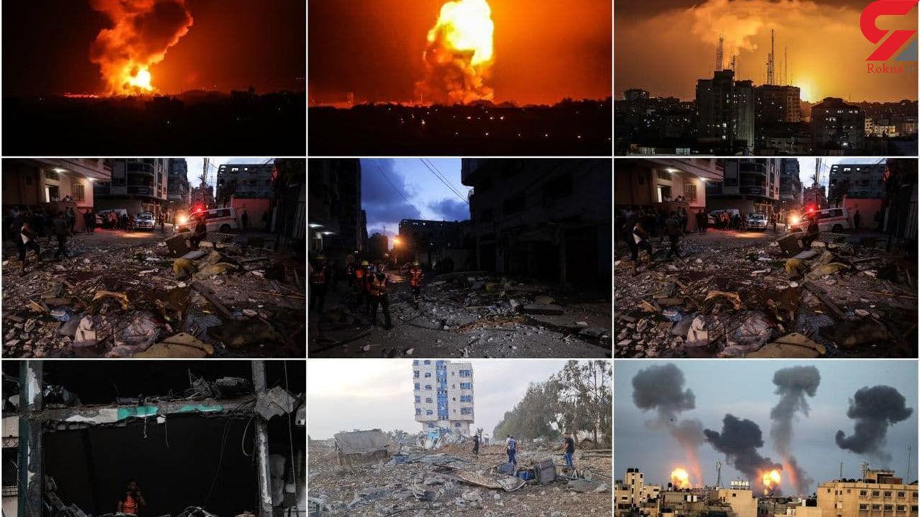 فیلمی وحشتناک از بمباران غزه و وحشت فیلمبردار