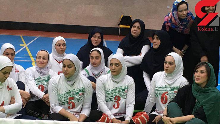 حضور دو بازیگر مشهور در اردوی دختران ملىپوش والیبال نشسته ایران +عکس