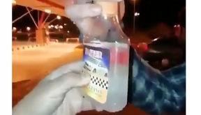 آب فروشی به جای بنزین در جایگاه سوخت  اتوبان تهران - قم + فیلم