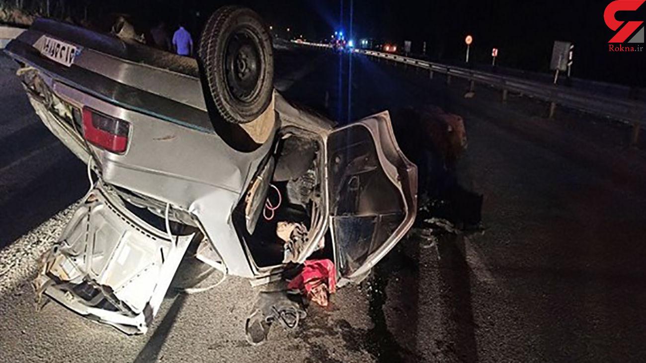 واژگونی خودروی پژو موجب مصدومیت 4 نفر شد