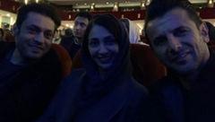 عکس امین حیایی و همسرش در سینما!