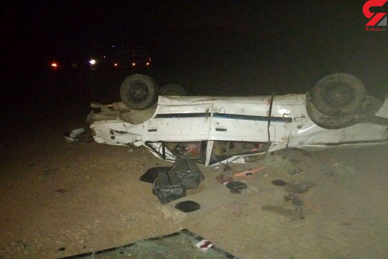 یک کشته و 2 مصدوم در پی تصادف در محور دهدشت- بهبهان