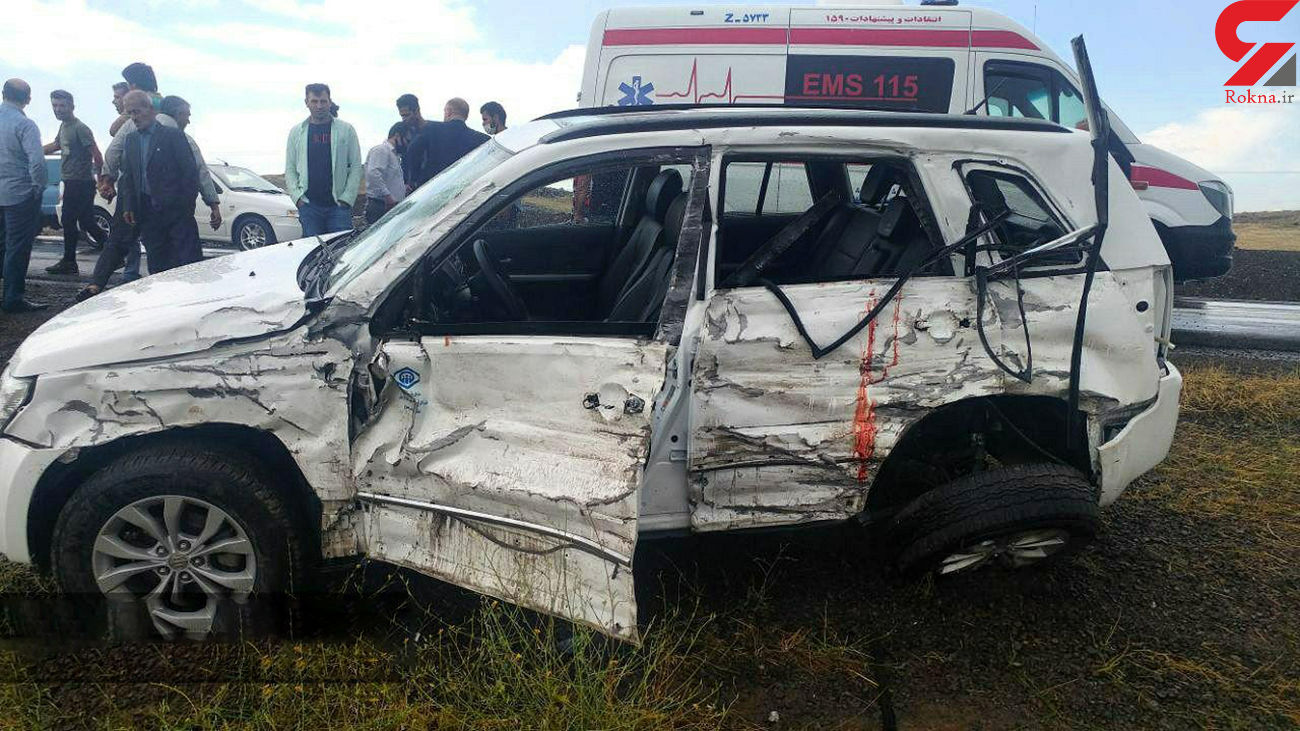 یک فوتی و یک مصدوم در تصادف سه خودرو در جاده رضی به اردبیل