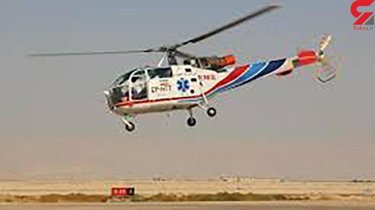 پرواز اورژانس هوائی آباده برای نجات جان بیمار قلبی