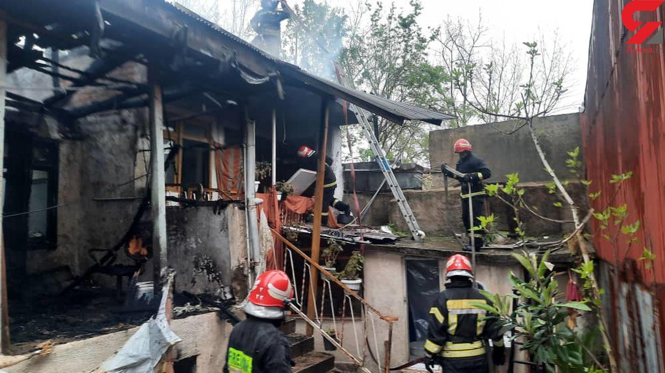 خانه ویلایی طعمه شعله های آتش شد + عکس
