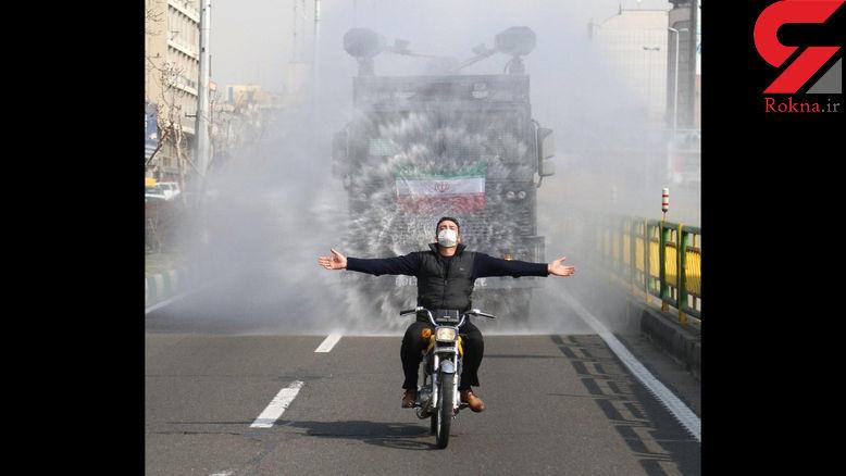عکسی از مرد تهرانی که در روزهای کرونایی جنجالی شد + عکس