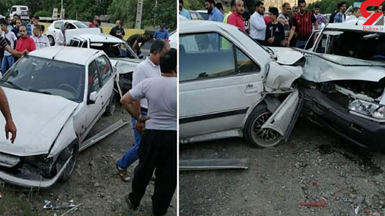 مرگ فجیع 3 نفر در پراید له شده! / در گیلان رخ داد + عکس