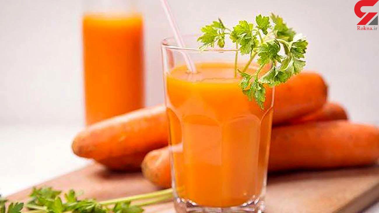 درمان سرماخوردگی با آب هویج