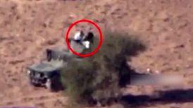 شلیک موشک رزمندگان یمنی به خودروی مزدوران سعودی + فیلم