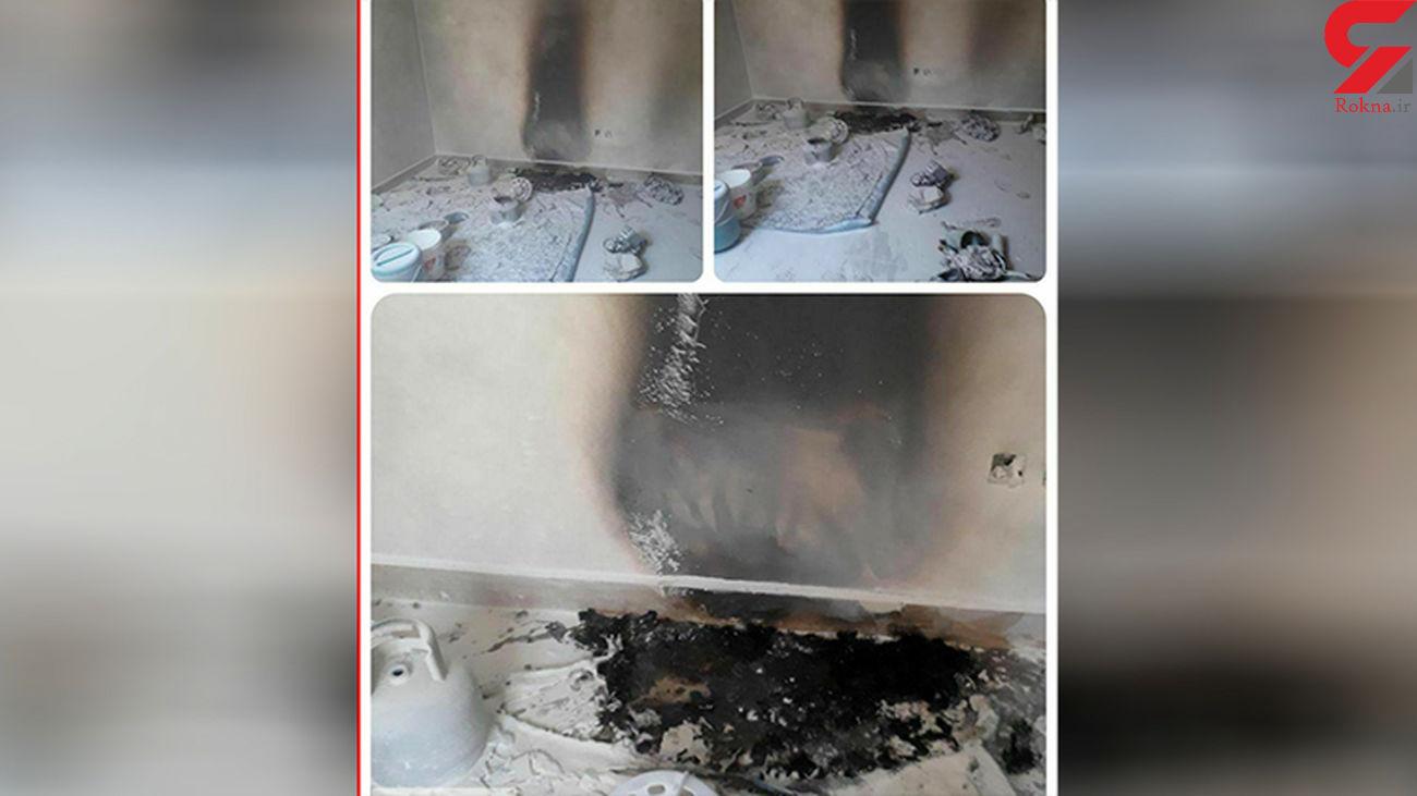 مصدوم شدن 4 نفر بر اثر انفجارکپسول پیک نیک در مهاباد +عکس