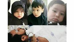 عکسی تلخ از فرزندان خردسال طلبه جوان مشهدی / وداعی دردناک + تصاویر