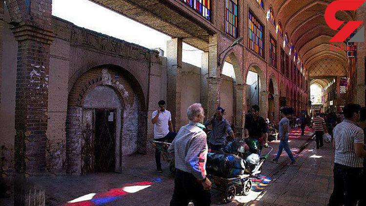 هشدار؛ سقف بازار آهنگران تهران در حال ریزش است !