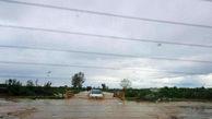 رودخانه جاده گهرباران - پنبهچوله طغیان کرد