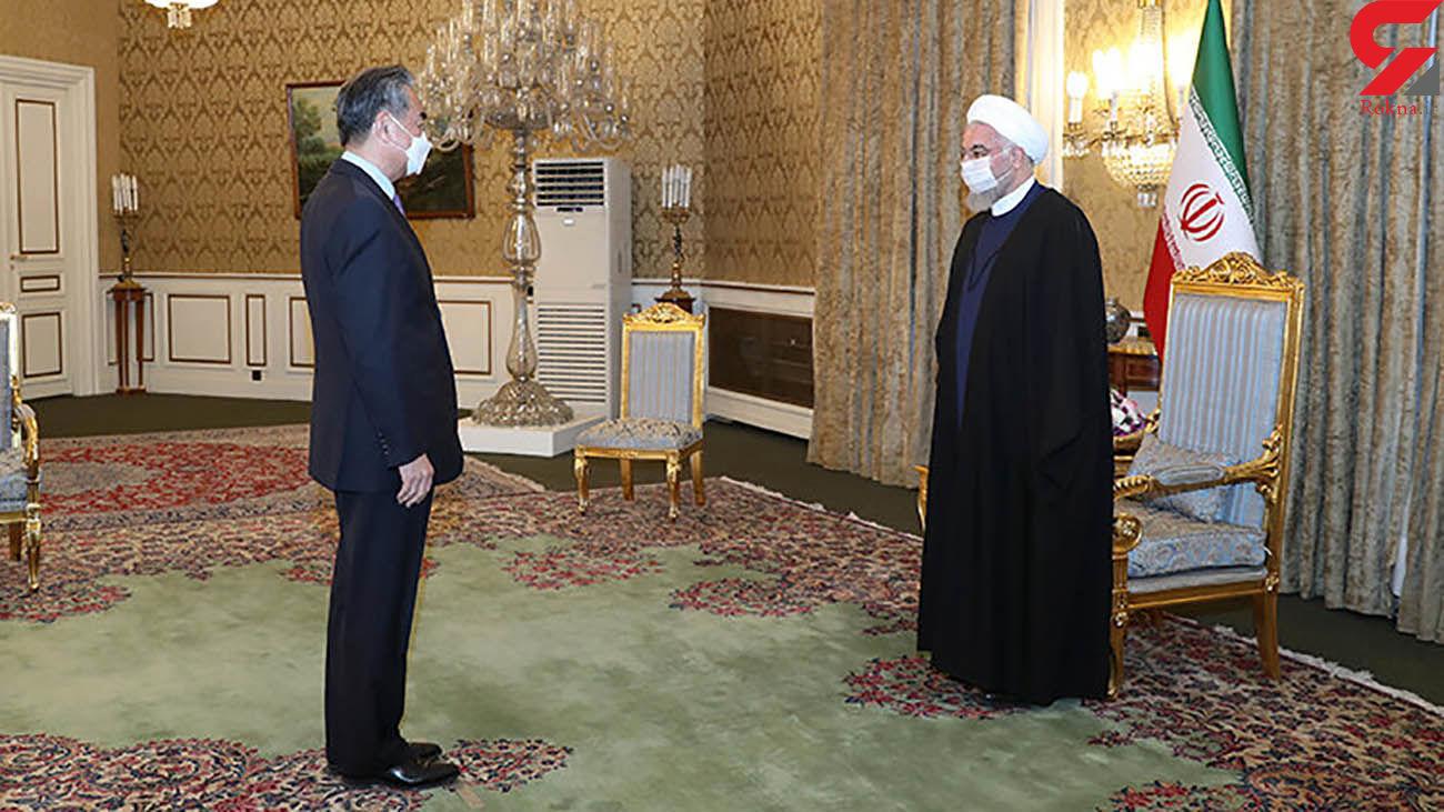 وزیر امورخارجه چین به دیدار روحانی رفت