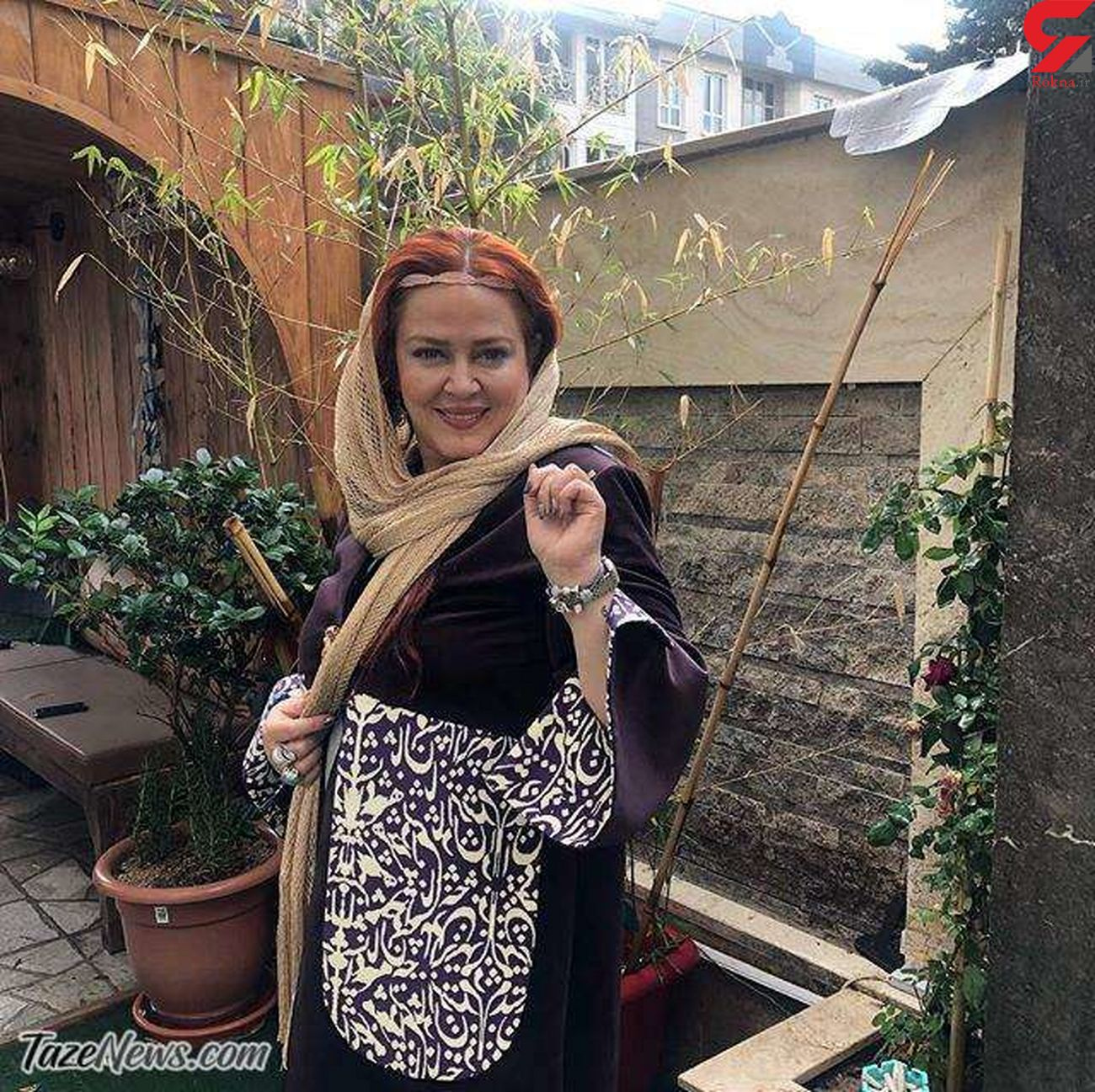تصویر دیده نشده از بهاره رهنما در حیاط خلوت خانهاش