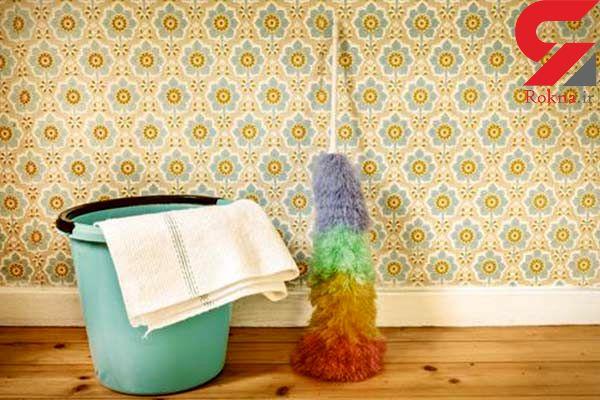تمیز کردن کاغذ دیواری با روش های خانگی