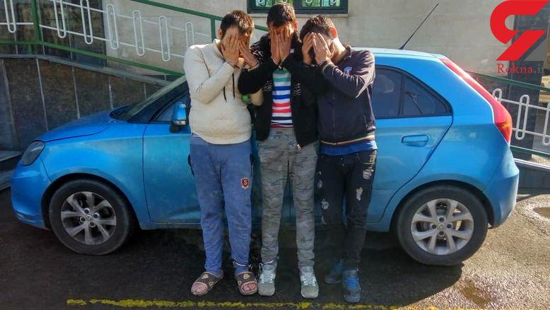 3 جوان شمشیر زن خشن در مشیریه تهران دستگیر شدند +عکس