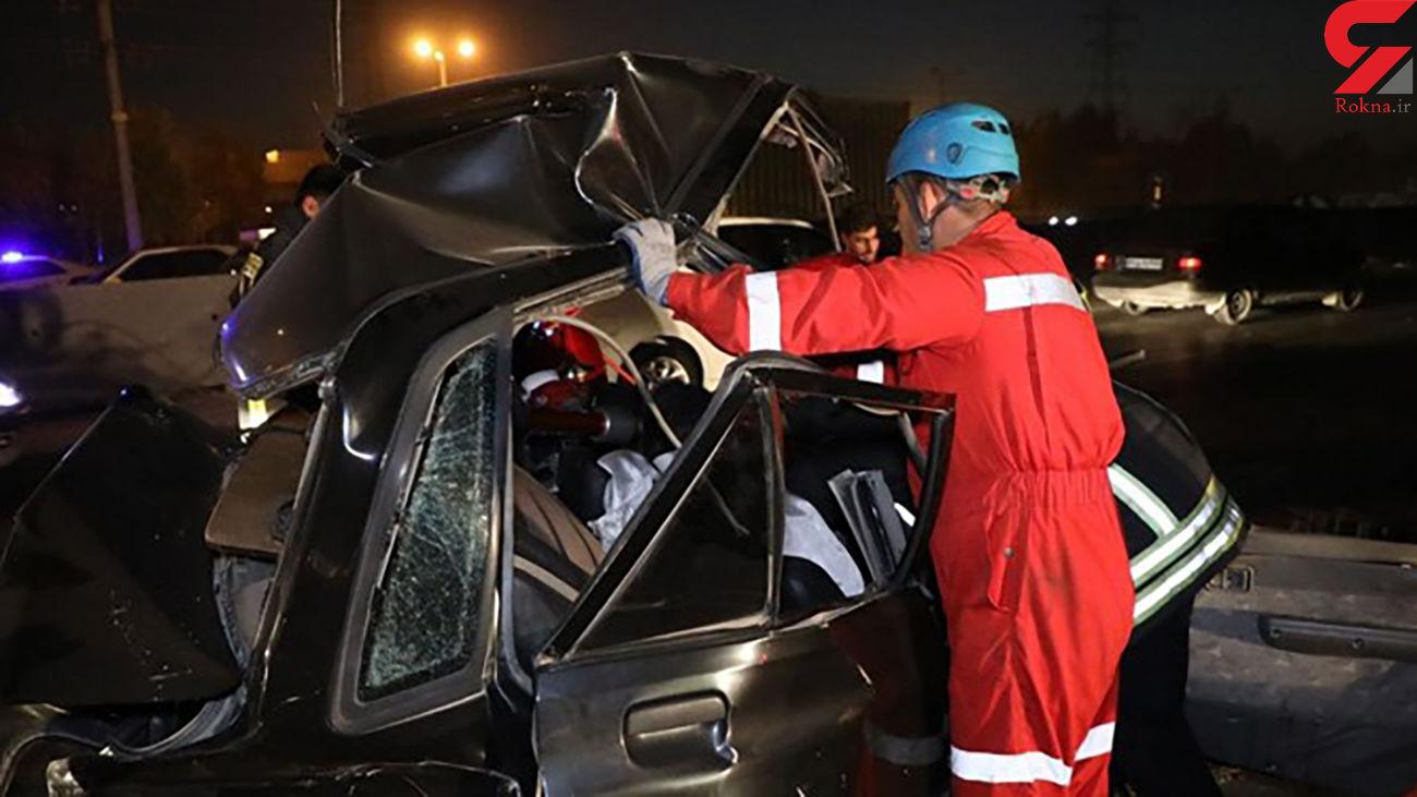 تصادف مرگبار در جاده مرند با 3 کشته و 3 زخمی