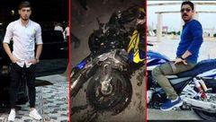 تصویر 2 جوان در پیست موتور سواری آبادان که به شکل تلخی کشته شدند+عکس