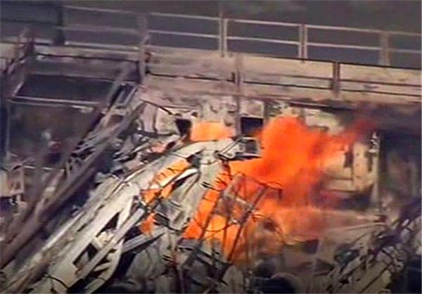 حادثه انفجار در چاه گاز در آمریکا/ 5 کارگر مفقود شدند+تصاویر
