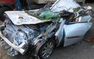 واژگونی مرگبار خودروی مگان در رودسر + عکس