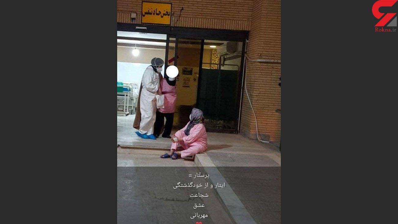 عکس از فداکاری پرستار در زلزله بوشهر