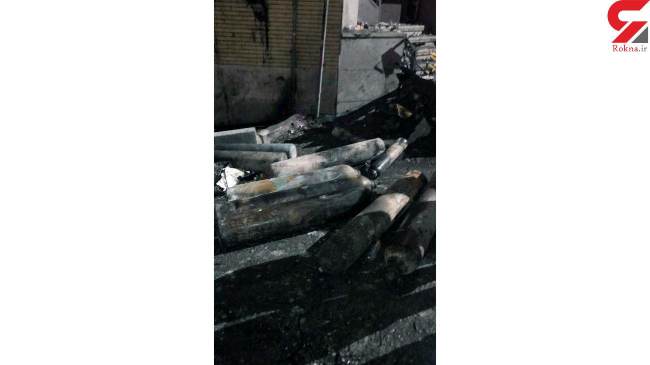 نجات زن جوان از میان شعله های آتش انفجار تجریش + فیلم